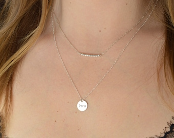 Necklace 2 in 1 customizable medal made of 925 Silver
