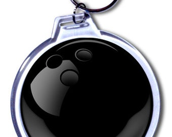 Personalized Bowling Ball Keychain - 2 Size Choices