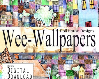 Decoration Download, Digital, Doll House, Patchwork, village, quilt,pattern, Mini,town,, trees, seasons, warmth, cozy, home, made, sewing