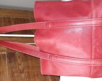 Vintage Red Coach Handbag Purse