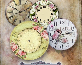 10 Vintage Clock Face Circles 2