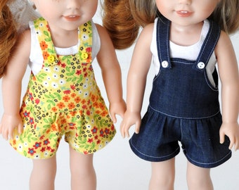 Trendy Drop Waist Romper Handmade for Wellie Wishers Doll