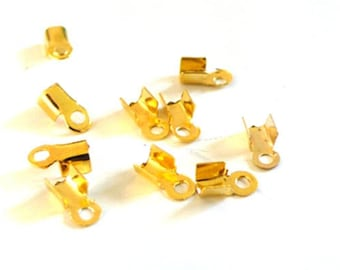 30 caps rope gold tone pinch 6mm