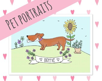Personalised Pet Portraits (Up to 3 Pets)