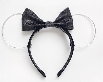 Mini Black Sparkle Mouse Ears | Disney Ears | Mickey | Minnie
