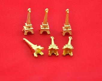 Golden Eiffel tower Charms -20pcs Golden Paris Eiffel Tower Charm Pendants -23*9mm --G00162