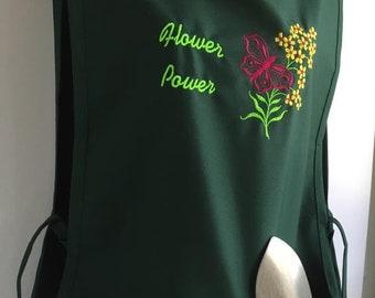 Gardening Apron - Cobbler Style - Flower Power