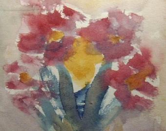 Flower Painting, Watercolor Flower Painting, Flowers, Modern Painting