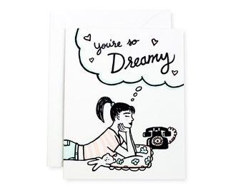 So Dreamy Letterpress Love Card