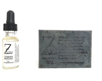ZAJA Natural Skin Care Combo - Charcoal Soap and Fitoderm Squalane