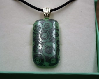 Mint Green and Mica Glass Necklace! Shipping Included!!