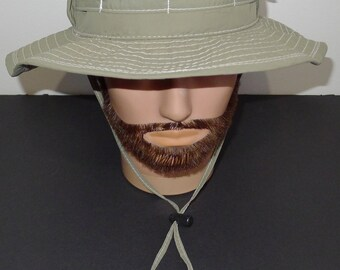 Nice vintage  unisex  STETSON khaki ventilated fedora hat  - L