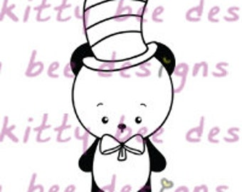 Dr Seuss Panda Digital Stamp