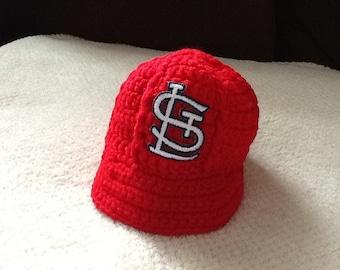 St. Louis CARDINALS Newborn Crochet Baseball Cap - Photographer Prop