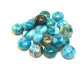 Pearl blue SUGILITE gemstone - Rondelle (14x7mm) - Turquoise - PSPSURO1415TU010