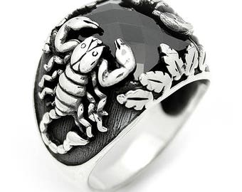 925 Sterling Silver Ring For Men, Scorpion Ring for Man
