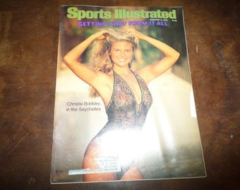Vintage February 5 1979 Sports Illustrated Magazine Christie Brinkley Swimsuit Excellent Condition