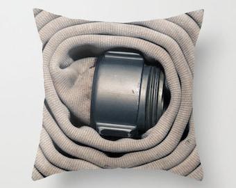 Fire Hose Throw Pillow,  Firefighter Decor, Firefighter, Firefighter Throw Pillow
