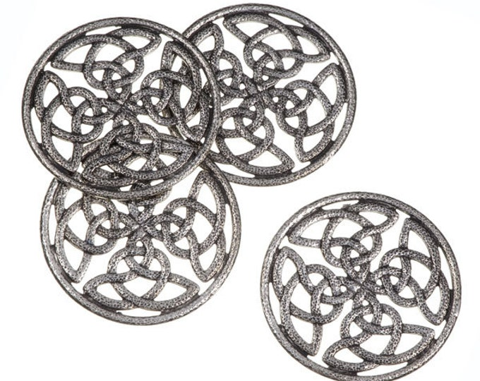 Coasters set of 4 Quadrant knot pierced  -Hand Made and Design in UK