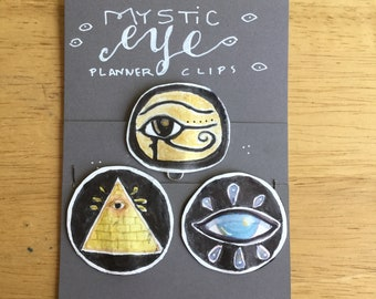 MYSTIC EYE planner clips for journals or planners