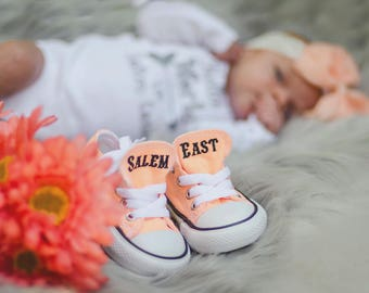 Baby Shoes - Baby Converse - Monogrammed Converse - Personalized Converse - Infant Converse - Baby Clothes - Converse - Cute Baby Clothes