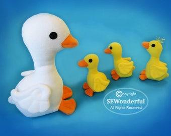 Duckling Parade Plush Stuffed Animal Sewing Pattern PDF