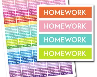Homework stickers, Homework planner stickers, Homework printable stickers, School stickers, Student sticker, Study stickers, STI-242