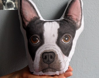 Boston Terrier Pillow, Custom Pet Pillow ,  Personalized  gift for pet lovers, Dog pillow, Cat pillow, Pet owner gifts, dog gifts, cat gifts
