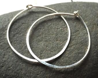 Sterling Silver Hoop Large Hoop Earrings 14k Gold Filled Hoop Earrings Sterling Silver Hoops 14k Rose Gold Filled Hammered Hoops