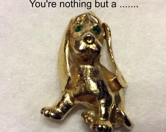 Vintage 1950's hounddog brooch pin.