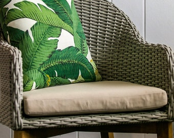 """Outdoor Tommy Bahama 45cm x 45cm - 18"""" x 18""""  Square/Cushion / Pillow Cover Tropical Green Swaying  Palm"""