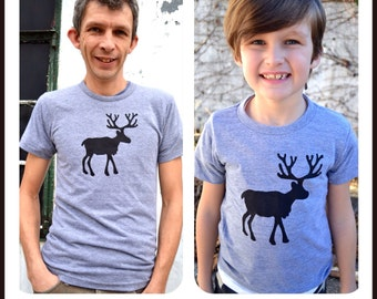 TWO SHIRTS matching father son daughter Fathers Day Pick 2 outfit SALE deer buck antler men shirt kids tshirt boys elk Set girls baby infant