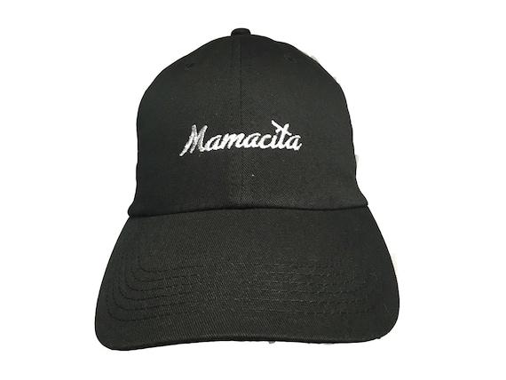 Mamacita - Polo Style Ball Cap (Black with White Stitching)