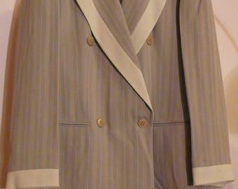 Authentic Vintage 3 Pieces woman suit 80 's GIBIERRE