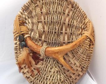 Antler Wall Basket - Item 707 by Susan Ashley