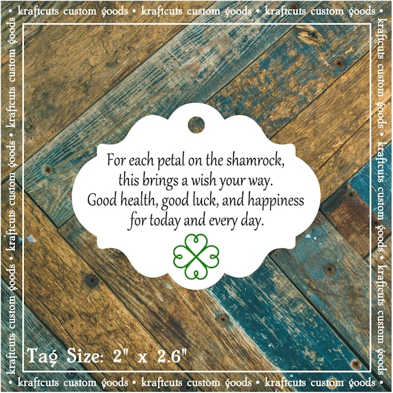 Irish Blessing Favor Tags #605 for Irish Wedding, Anniversary Party, Birthday Party Qty: 30 Tags