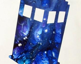 """Art Print 8"""" x 10"""" -Exploding TARDIS-"""