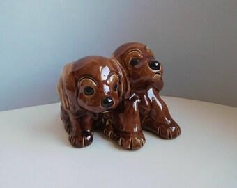 Vintage dog figurine Ceramic dogs