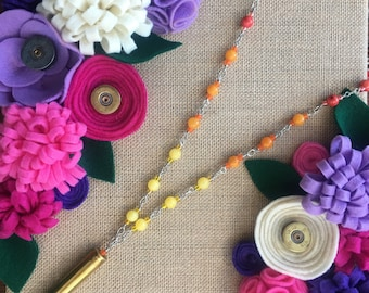 Tequila Sunrise 30-06 Shell Long Necklace