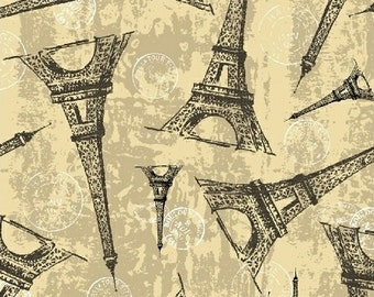 Destination Paris Eiffel Tower in Cream 42498-2 by Whistler Studios for Windham Fabrics
