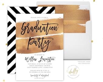 Graduation Party Invitation, College Graduation Invitation, Graduation Party Invitation Printable, Graduation Party Invites, Printed Invite