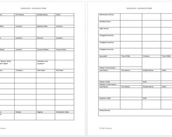 Genealogy / Family Tree Advanced Form