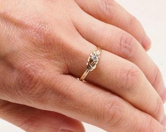 Diamond Engagement Ring - Promise Ring for Her - Gold Ring - Gemstone Ring - Infinity Ring - Eternity Ring