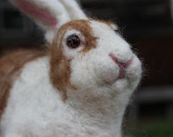 Needle felted spotty  Rabbit or Bunny.