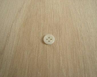 Ivory glass button four hole