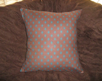 SIENNA BROWN BEADED Look  Pillow  Cover Michael Miller fabric Out of Print