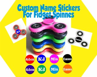Fidget Spinner Name Stickers set of 2