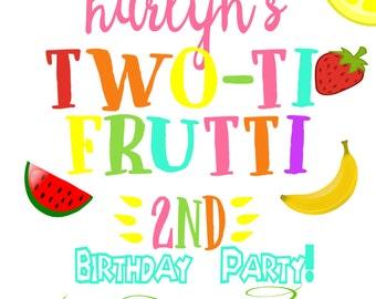 Two-ti Frutti Birthday Invitation