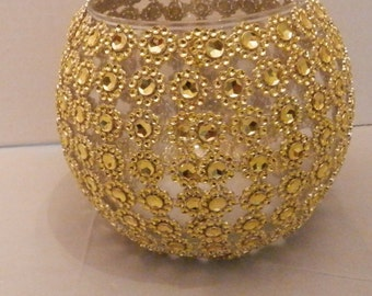 1 Wedding centerpiece, Gold centerpiece, Gold or Silver Wedding vase centerpiece, Glass flower vase, Wedding decoraration