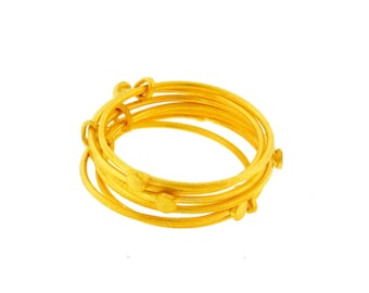 Gold Plated Stackable Ring